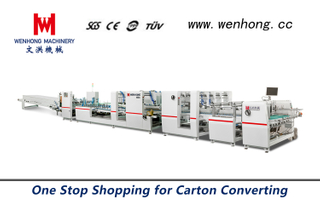 Automatic High Speed Folding And Gluing Machine WH-1450S
